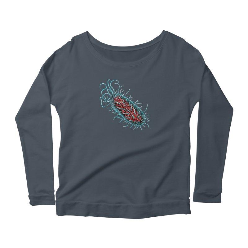 Bacteria Cell Women's Scoop Neck Longsleeve T-Shirt by Natalie McKean