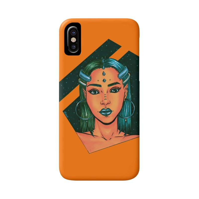 Alien Babe Accessories Phone Case by Natalie McKean