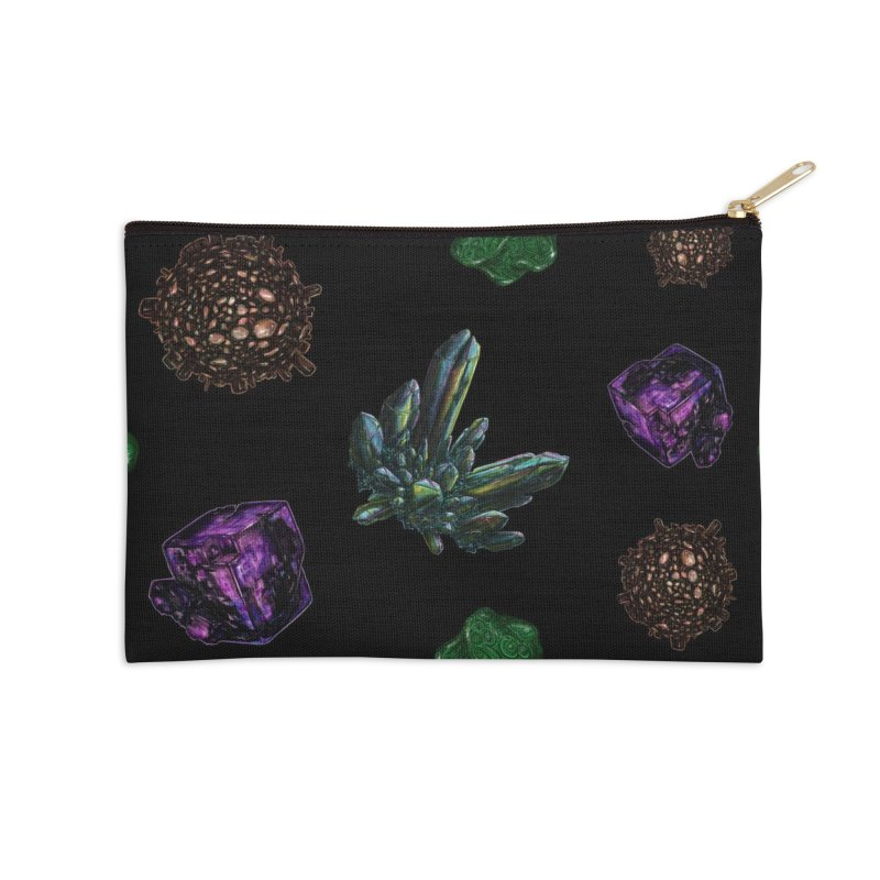 Crystal Pattern Accessories Zip Pouch by Natalie McKean