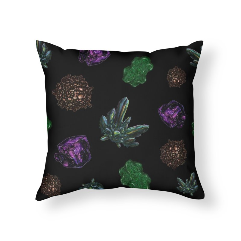 Crystal Pattern Home Throw Pillow by Natalie McKean