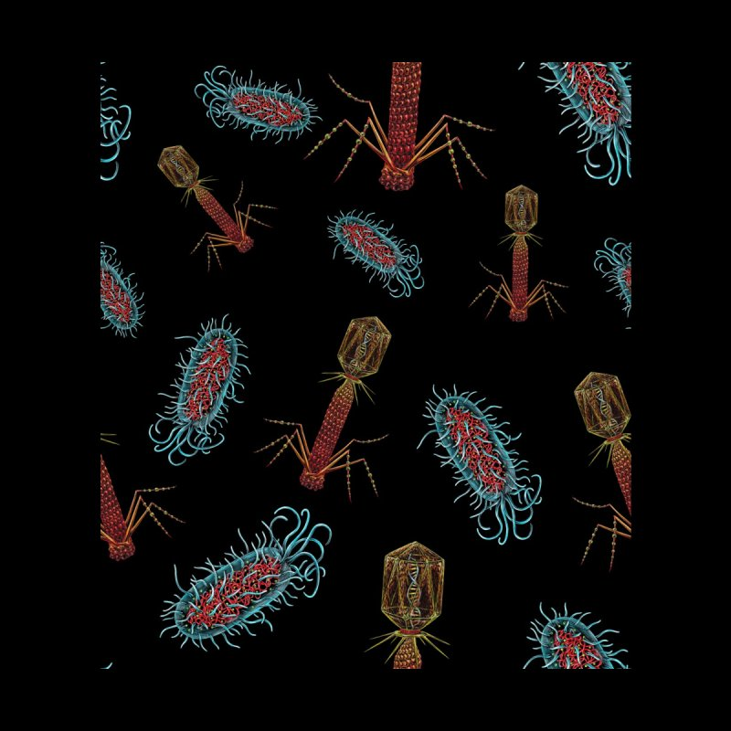 Virus vs Bacteria Pattern by Natalie McKean