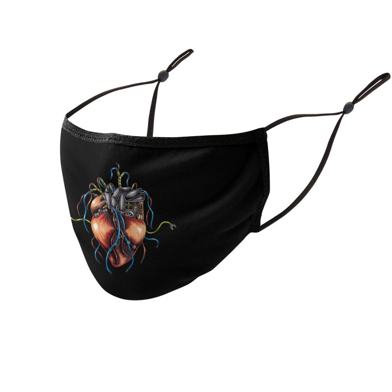 Mechanical Heart Accessories Face Mask by Natalie McKean