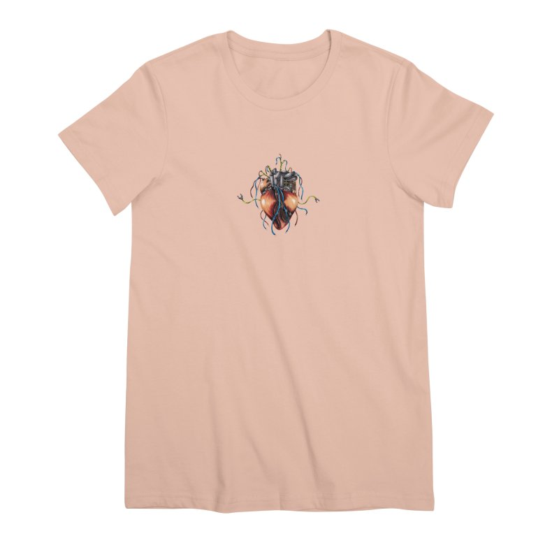 Mechanical Heart Women's Premium T-Shirt by Natalie McKean