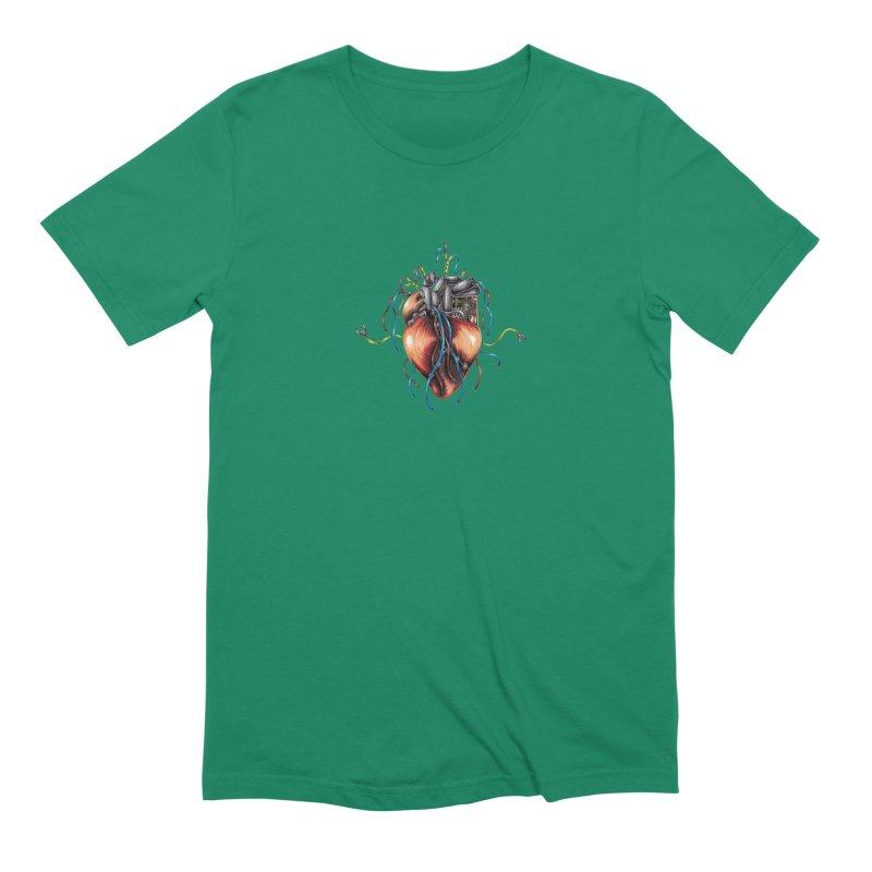 Mechanical Heart Men's Extra Soft T-Shirt by Natalie McKean