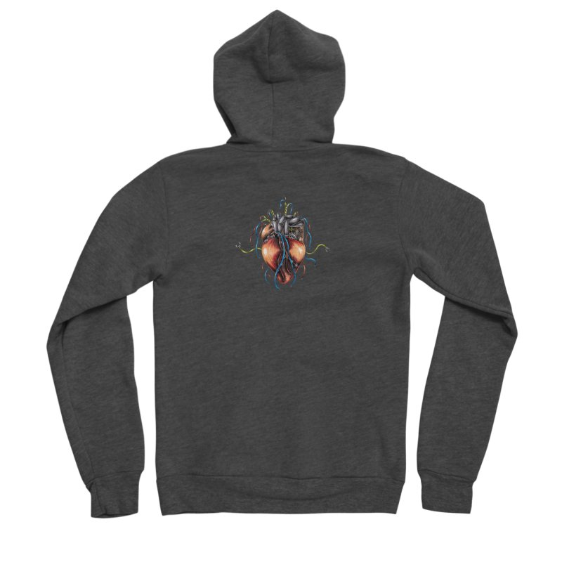 Mechanical Heart Men's Zip-Up Hoody by Natalie McKean