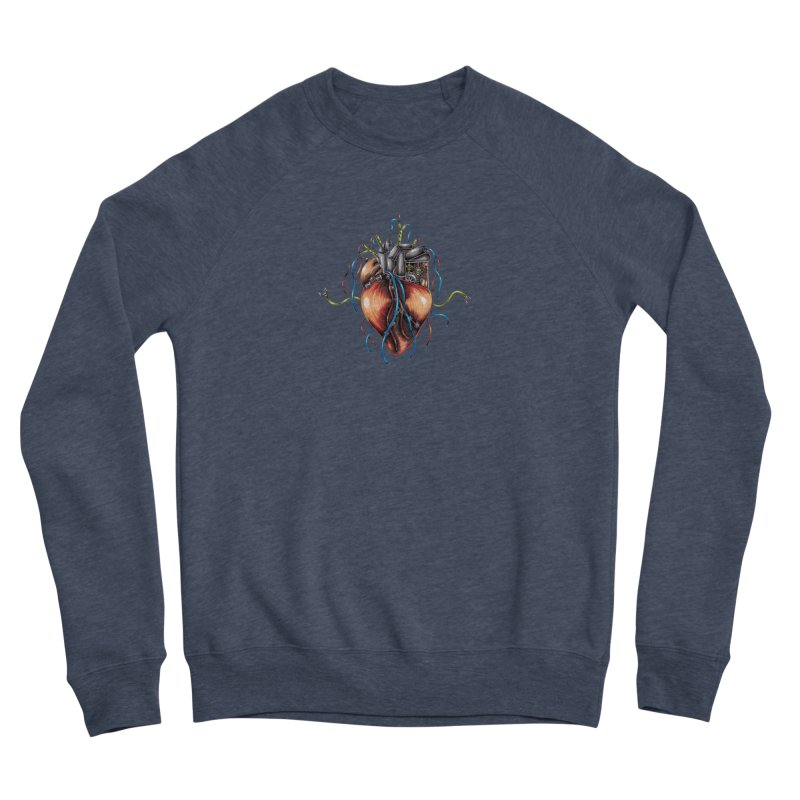 Mechanical Heart Women's Sponge Fleece Sweatshirt by Natalie McKean