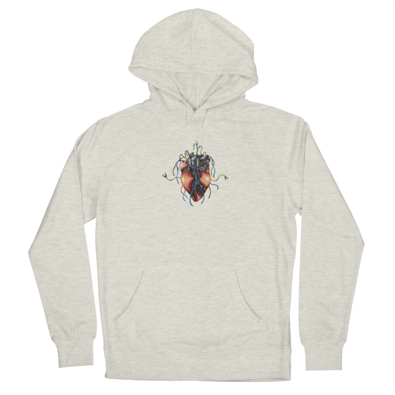 Mechanical Heart Women's French Terry Pullover Hoody by Natalie McKean