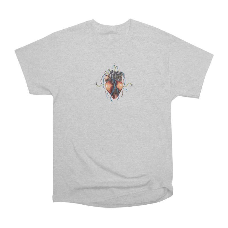 Mechanical Heart Men's Heavyweight T-Shirt by Natalie McKean