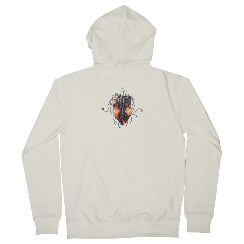 Mechanical Heart Men's French Terry Zip-Up Hoody by Natalie McKean
