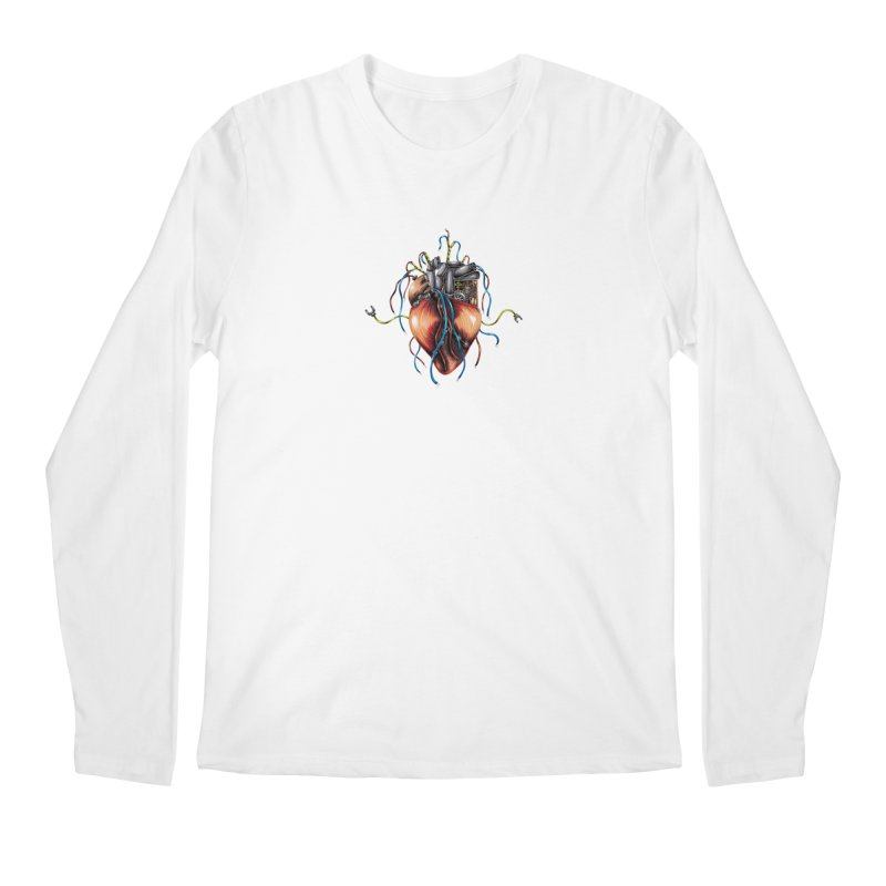 Mechanical Heart Men's Regular Longsleeve T-Shirt by Natalie McKean