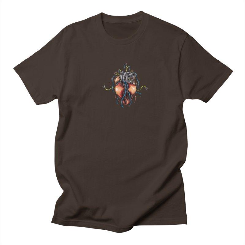 Mechanical Heart Men's Regular T-Shirt by Natalie McKean