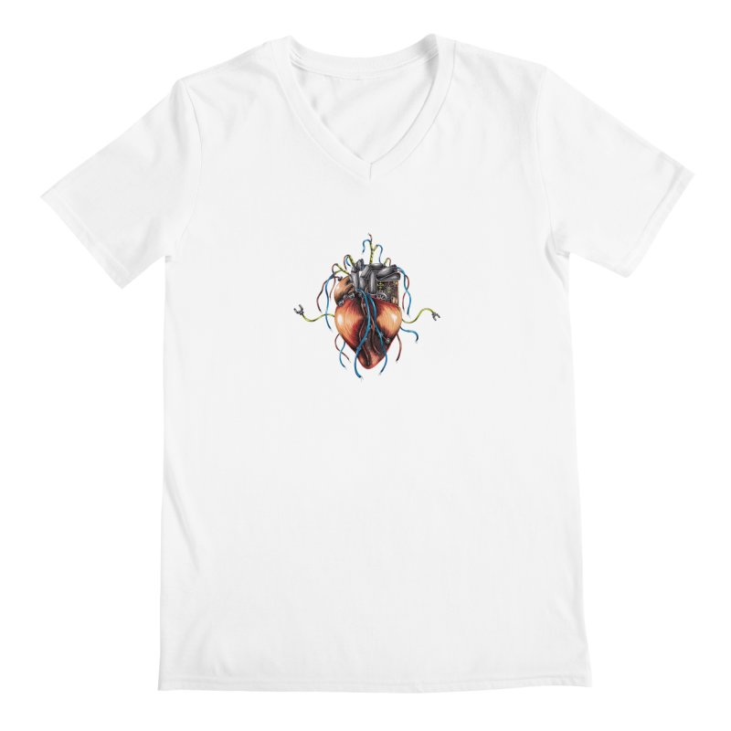 Mechanical Heart Men's V-Neck by Natalie McKean