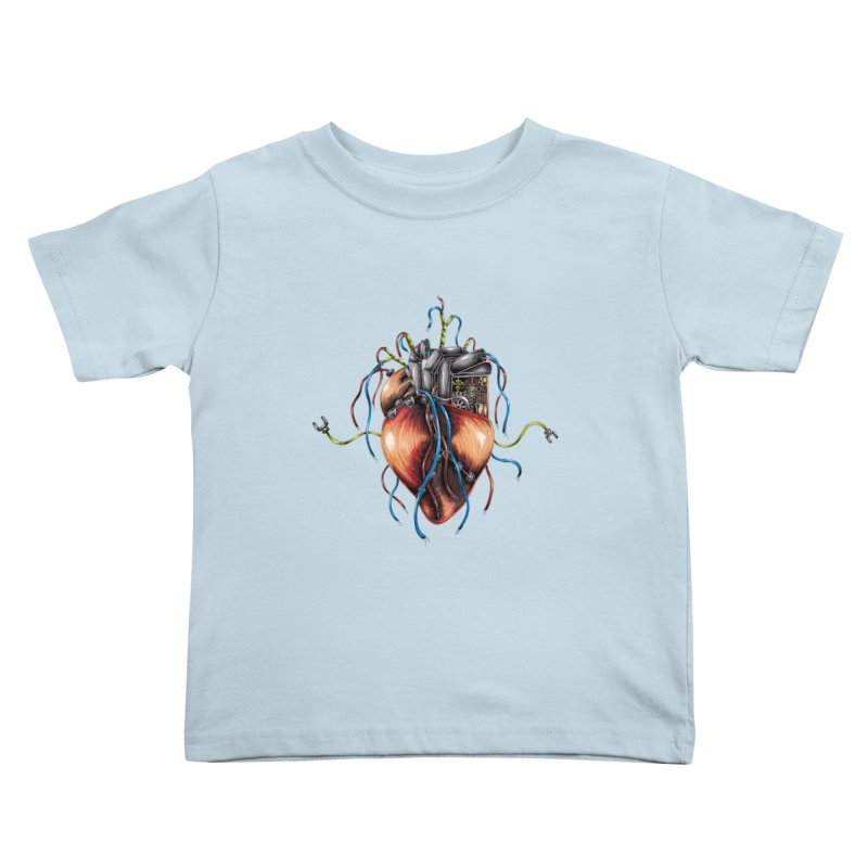 Mechanical Heart Kids Toddler T-Shirt by Natalie McKean