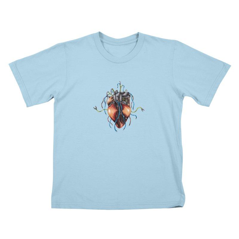 Mechanical Heart Kids T-Shirt by Natalie McKean