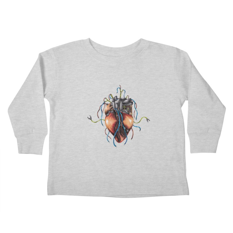 Mechanical Heart Kids Toddler Longsleeve T-Shirt by Natalie McKean