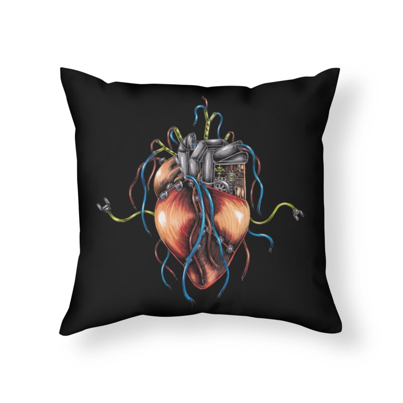 Mechanical Heart Home Throw Pillow by Natalie McKean