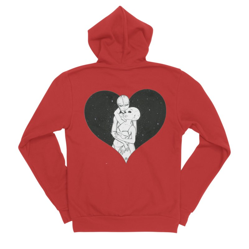 Love More ❤︎ Women's Zip-Up Hoody by Natalie McKean