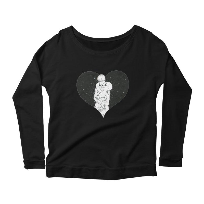 Love More ❤︎ Women's Scoop Neck Longsleeve T-Shirt by Natalie McKean