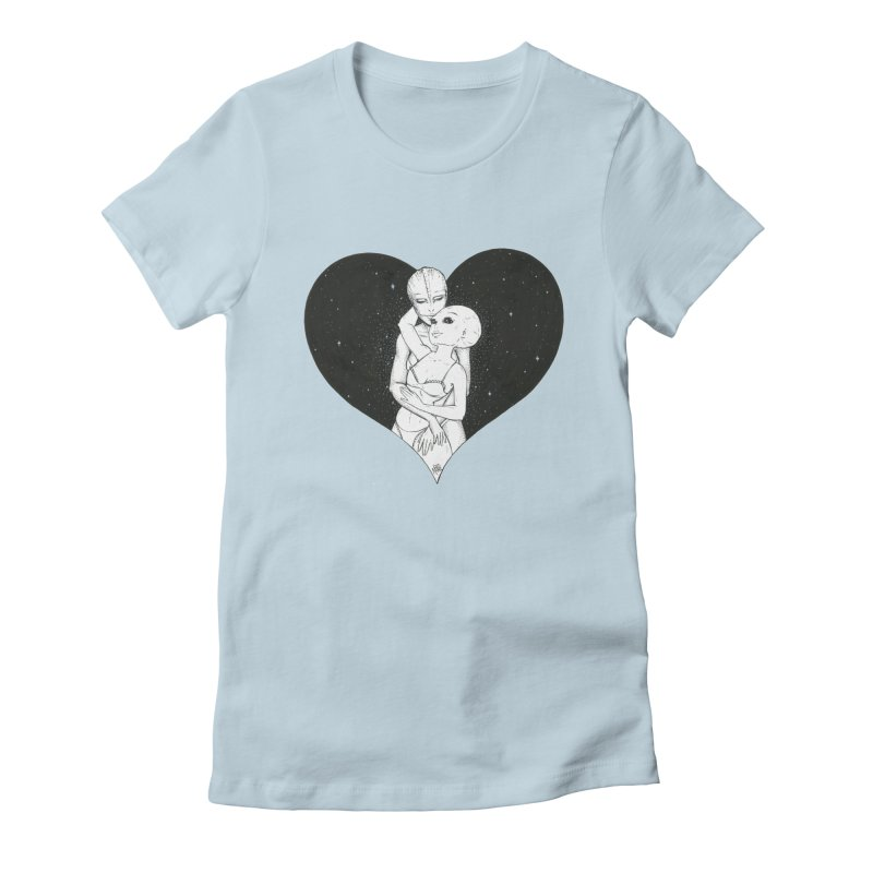 Love More ❤︎ Women's Fitted T-Shirt by Natalie McKean