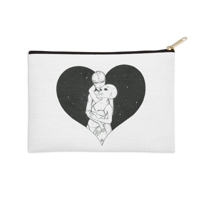 Love More ❤︎ Accessories Zip Pouch by Natalie McKean