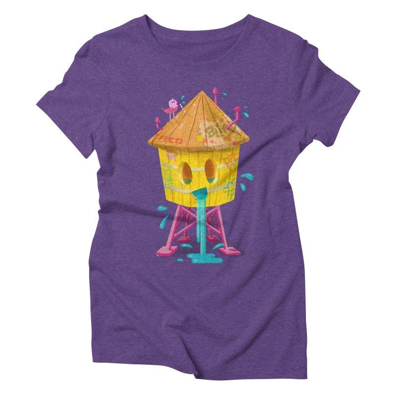 Water Tower Women's Triblend T-Shirt by Nate Bear