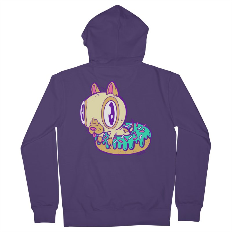 Puppy Chillin' In Donut Women's Zip-Up Hoody by Nate Bear