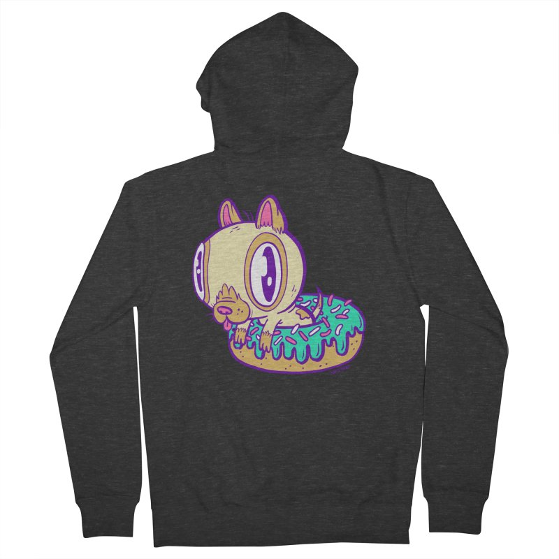 Puppy Chillin' In Donut Men's Zip-Up Hoody by Nate Bear
