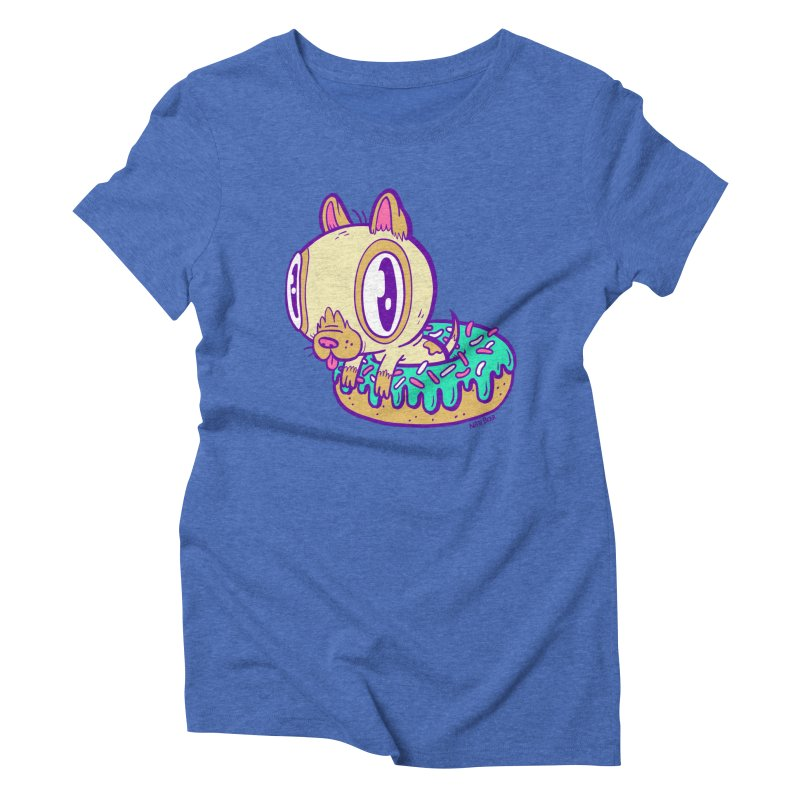 Puppy Chillin' In Donut Women's Triblend T-shirt by Nate Bear