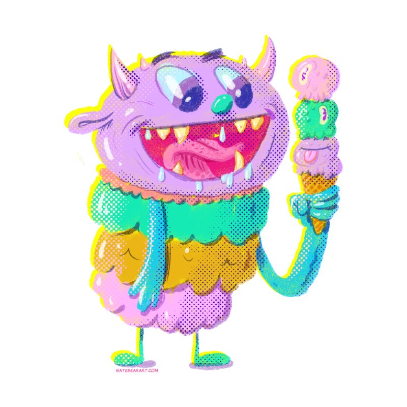 Ice Cream Monster by Nate Bear