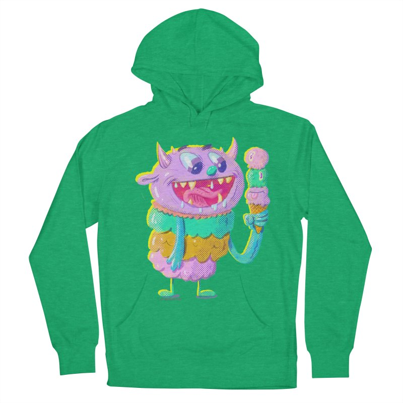 Ice Cream Monster Men's Pullover Hoody by Nate Bear