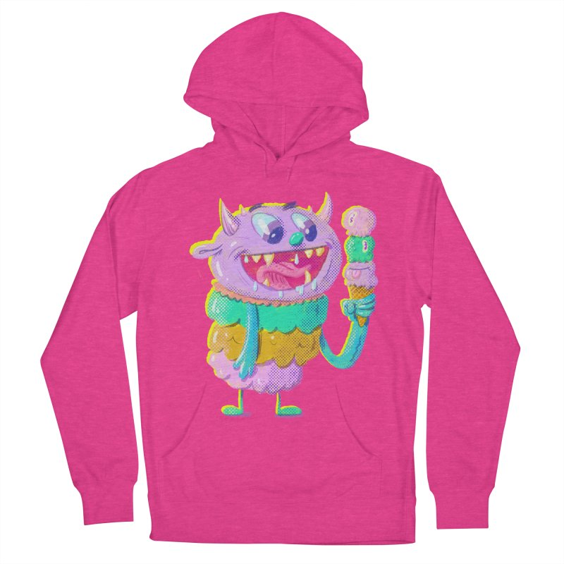 Ice Cream Monster Men's Pullover Hoody by Nate Bear