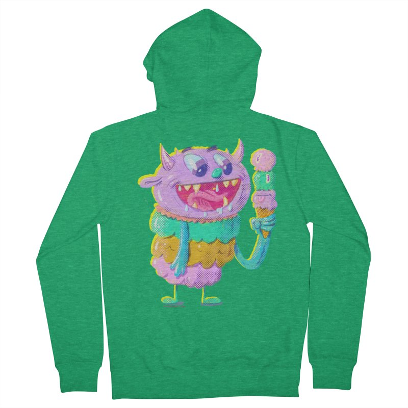 Ice Cream Monster Women's Zip-Up Hoody by Nate Bear