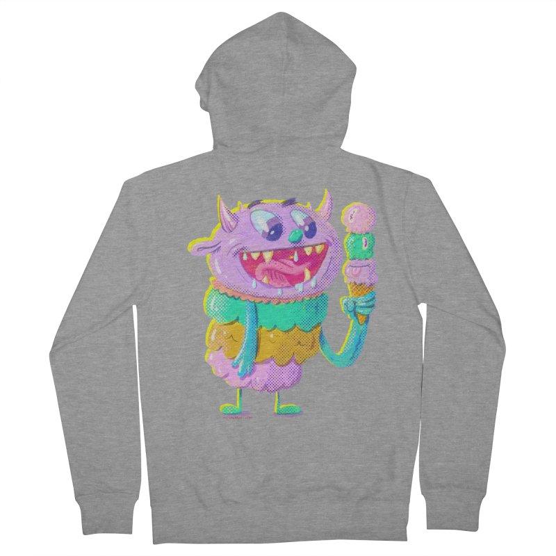 Ice Cream Monster Men's Zip-Up Hoody by Nate Bear