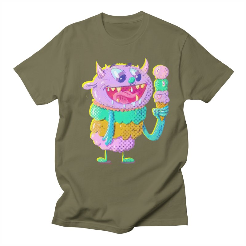 Ice Cream Monster Men's T-Shirt by Nate Bear