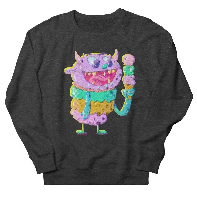 Ice Cream Monster Men's Sweatshirt by Nate Bear