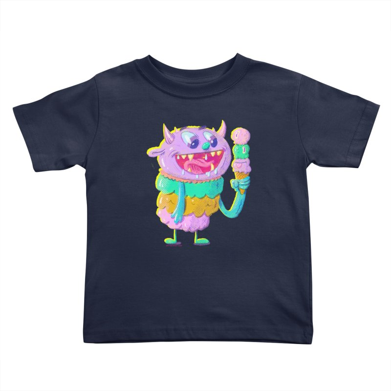 Ice Cream Monster Kids Toddler T-Shirt by Nate Bear