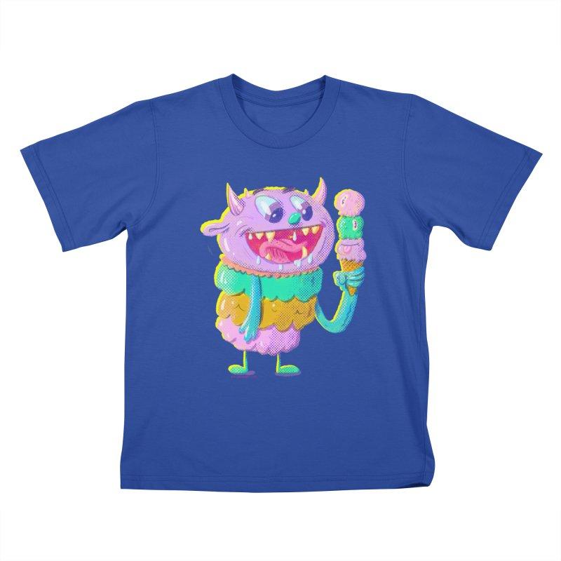 Ice Cream Monster Kids T-Shirt by Nate Bear