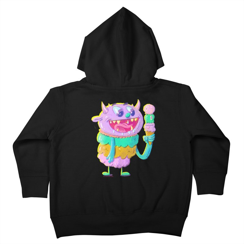 Ice Cream Monster Kids Toddler Zip-Up Hoody by Nate Bear