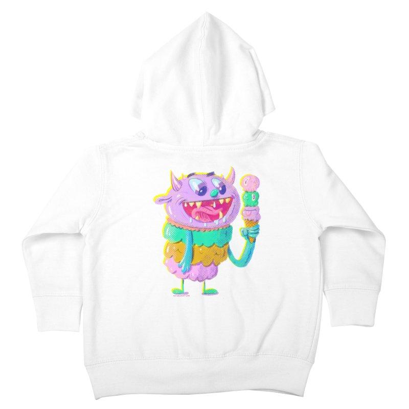 Ice Cream Monster Kids Toddler Zip-Up Hoody by Nate Bear