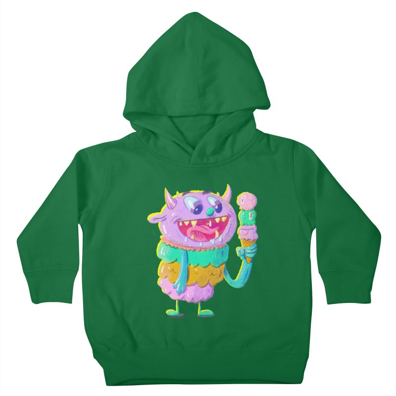 Ice Cream Monster Kids Toddler Pullover Hoody by Nate Bear