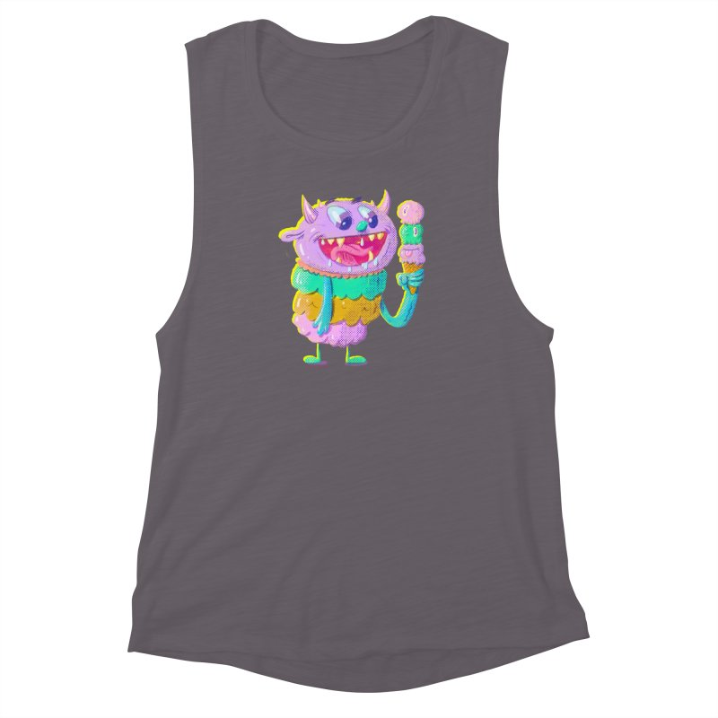 Ice Cream Monster Women's Muscle Tank by Nate Bear