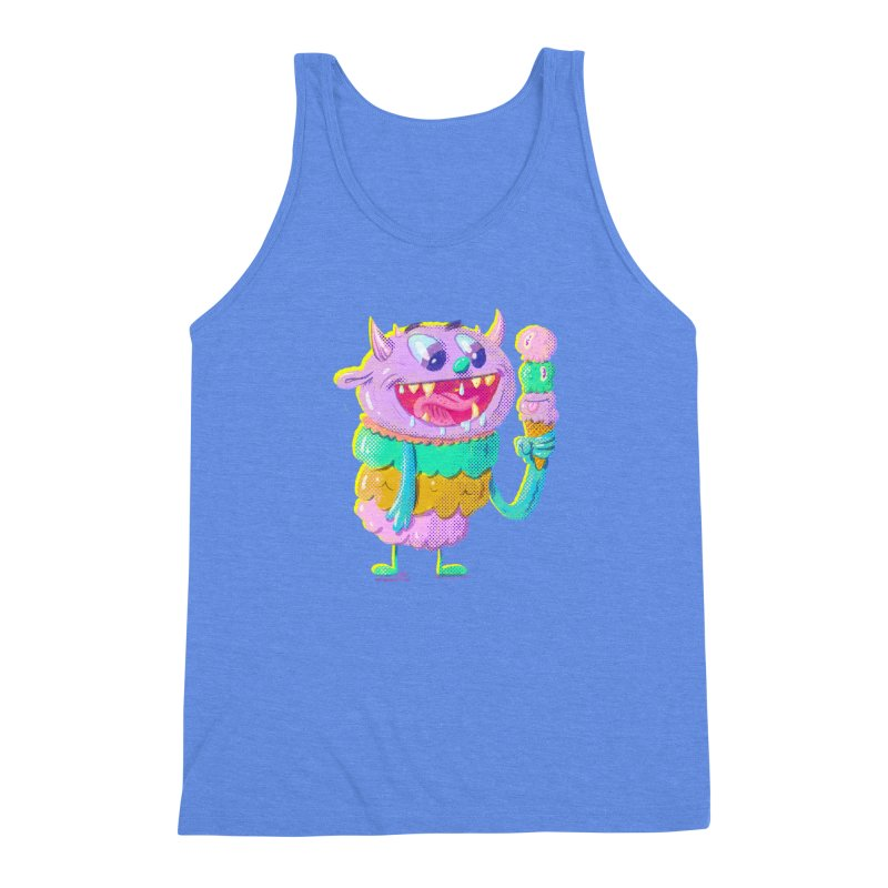 Ice Cream Monster Men's Triblend Tank by Nate Bear