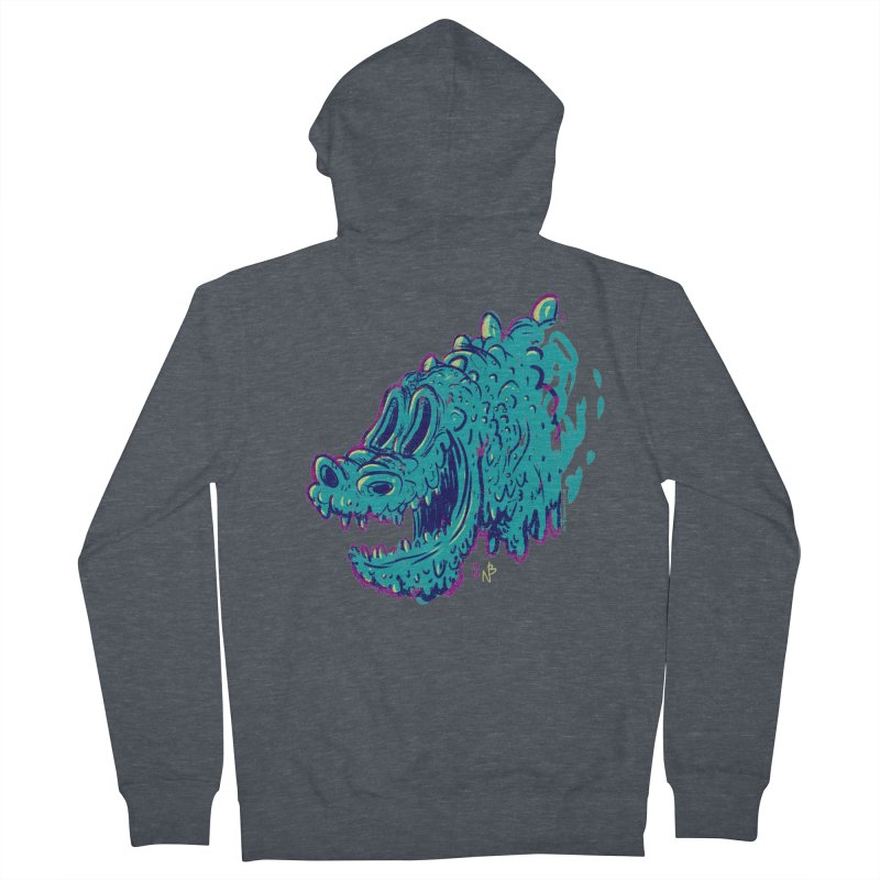 Dino Rex Women's Zip-Up Hoody by Nate Bear