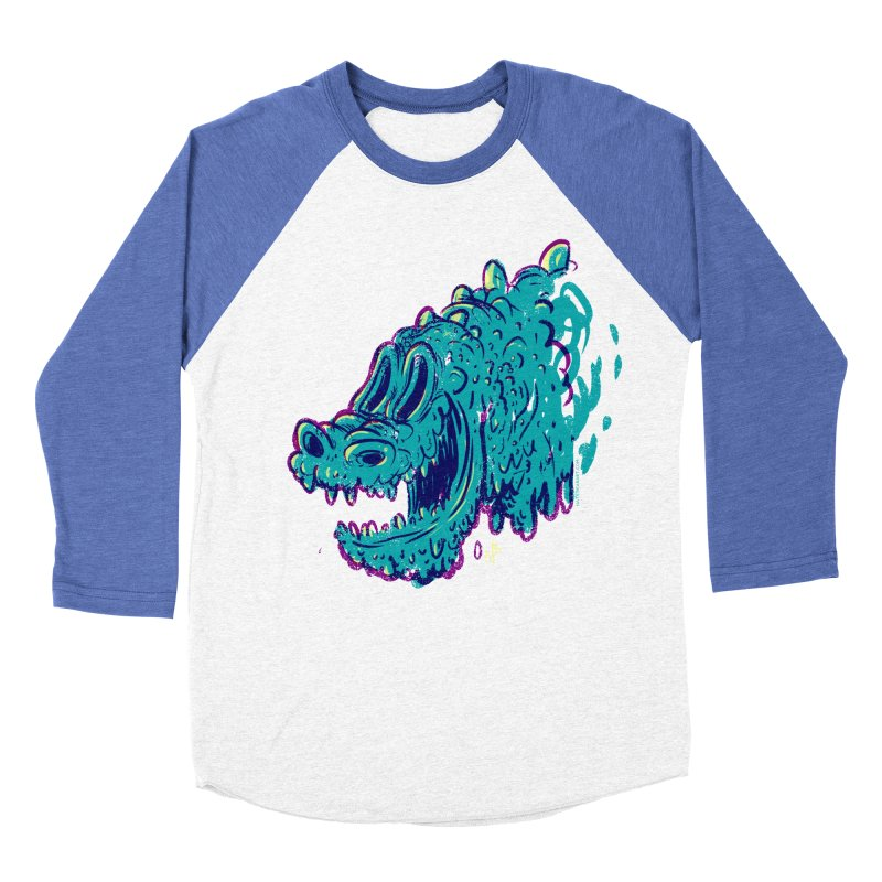 Dino Rex Women's Baseball Triblend T-Shirt by Nate Bear