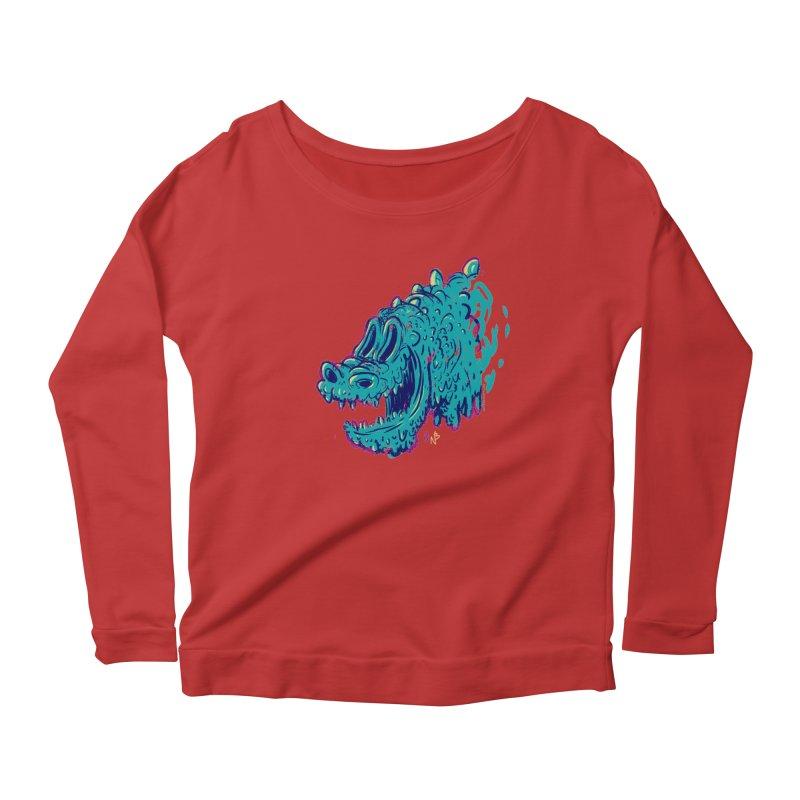 Dino Rex Women's Longsleeve Scoopneck  by Nate Bear