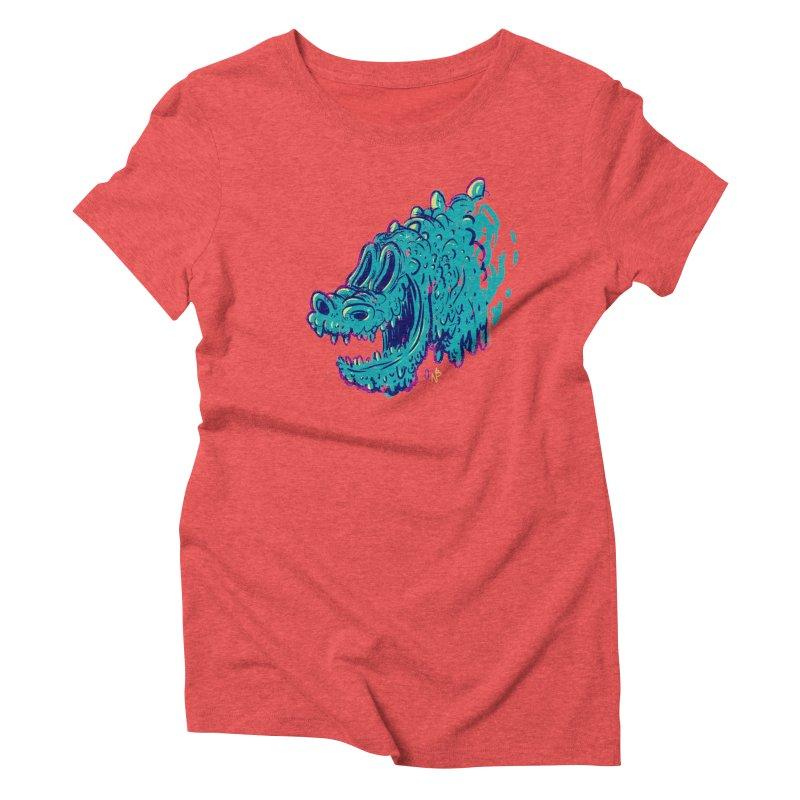 Dino Rex Women's Triblend T-Shirt by Nate Bear