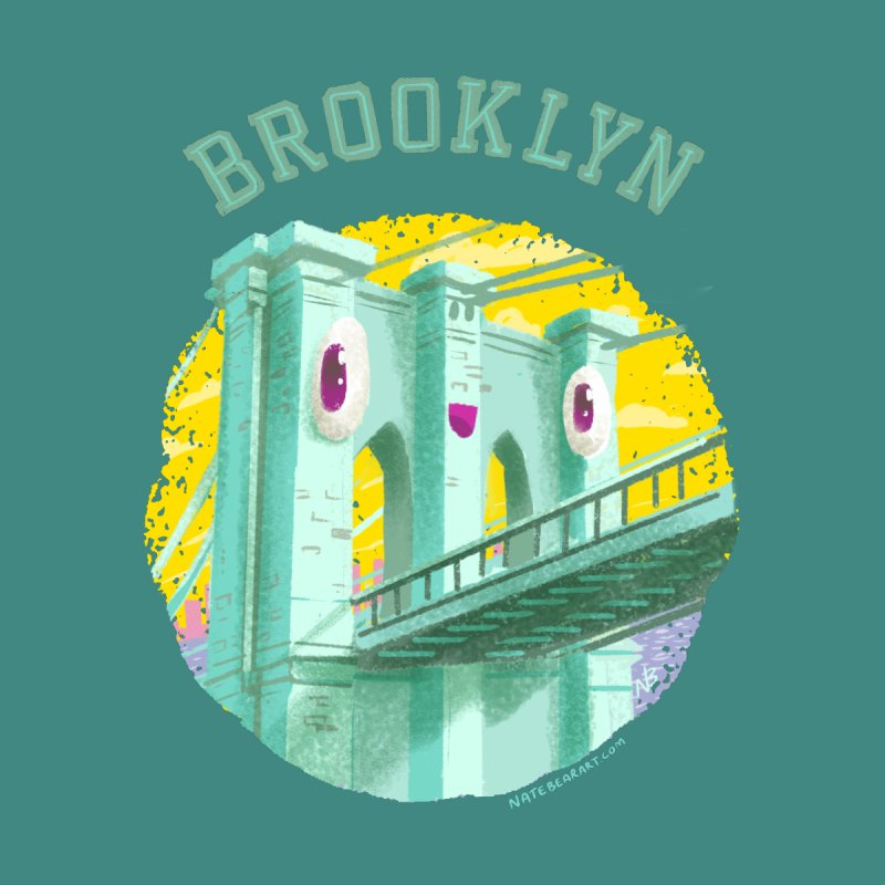 Brooklyn Bridge Women's Sweatshirt by Nate Bear
