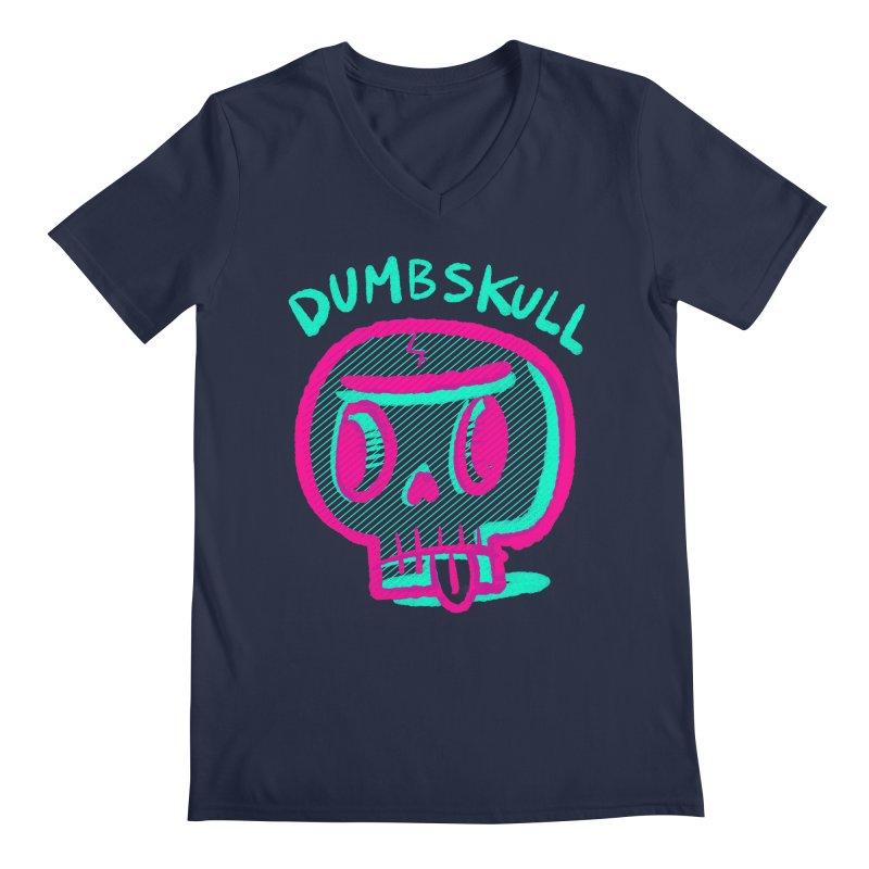 Dumbskull (v2) Men's V-Neck by Nate Bear