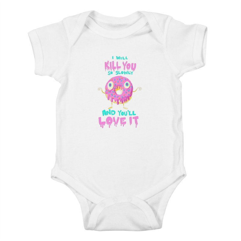 Donuts Will Kill You Kids Baby Bodysuit by Nate Bear