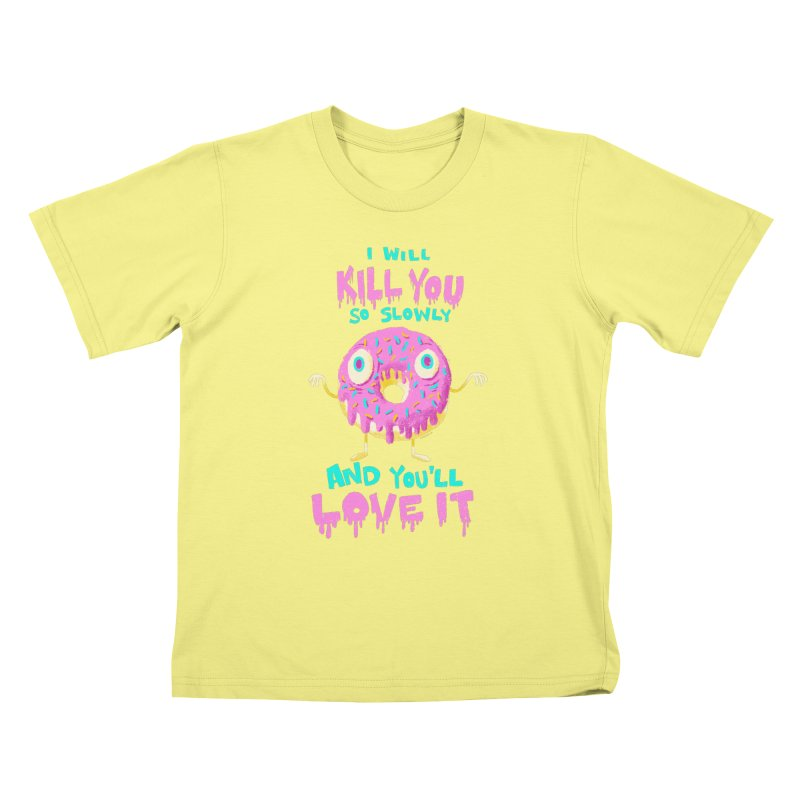 Donuts Will Kill You Kids T-shirt by Nate Bear